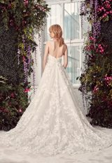 Floral Lace Embroidered Strapless Ball Gown Wedding Dress With Plunging V-neckline by Rivini - Image 2