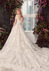 Off-the-shoulder Lace Ball Gown Wedding Dress With Corset Bodice by Rivini - Image 2