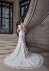 Sleeveless V-neckline Floral Lace Fit And Flare Wedding Dress by Sareh Nouri - Image 2