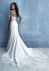 Strapless Sweetheart Sheath Wedding Dress With Lace Details by Allure Bridals - Image 2