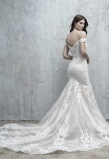 Off The Shoulder Sweetheart Fit And Flare Wedding Dress With Embroidered Lace by Madison James - Image 2