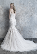 Strapless Sweetheart Fit And Flare Wedding Dress With Lace Appliques by Madison James - Image 2