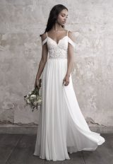 Sweetheart Bodice Silk Skirt A-line Wedding Dress by Madison James - Image 1