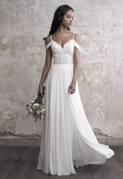 Sweetheart Bodice Silk Skirt A-line Wedding Dress by Madison James