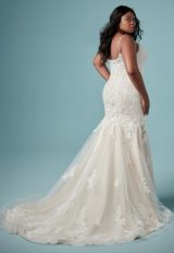 Spaghetti Strap V-neckline Lace Fit And Flare Wedding Dress by Maggie Sottero - Image 2
