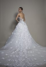 3-piece Wedding Dress With Strapless Corset, Satin Mermaid Skirt And Detachable Overskirt by Pnina Tornai - Image 2
