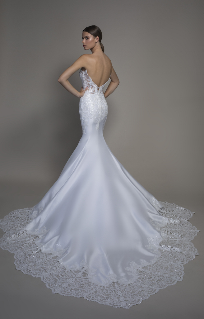 Strapless Satin Sweetheart Neckline Mermaid Wedding Dress