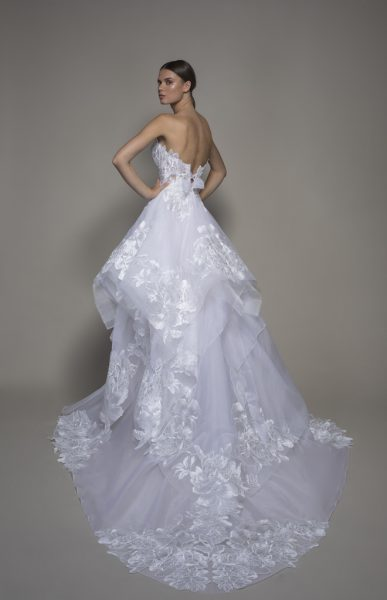 Strapless Sweetheart A-line Wedidng Dress With Ruffle Skirt by Pnina Tornai - Image 2