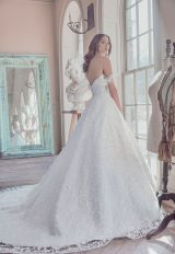 Off-the Shoulder Sweetheart Neckline Embroidered Lace Ball Gown Wedding Dress by Sareh Nouri - Image 2