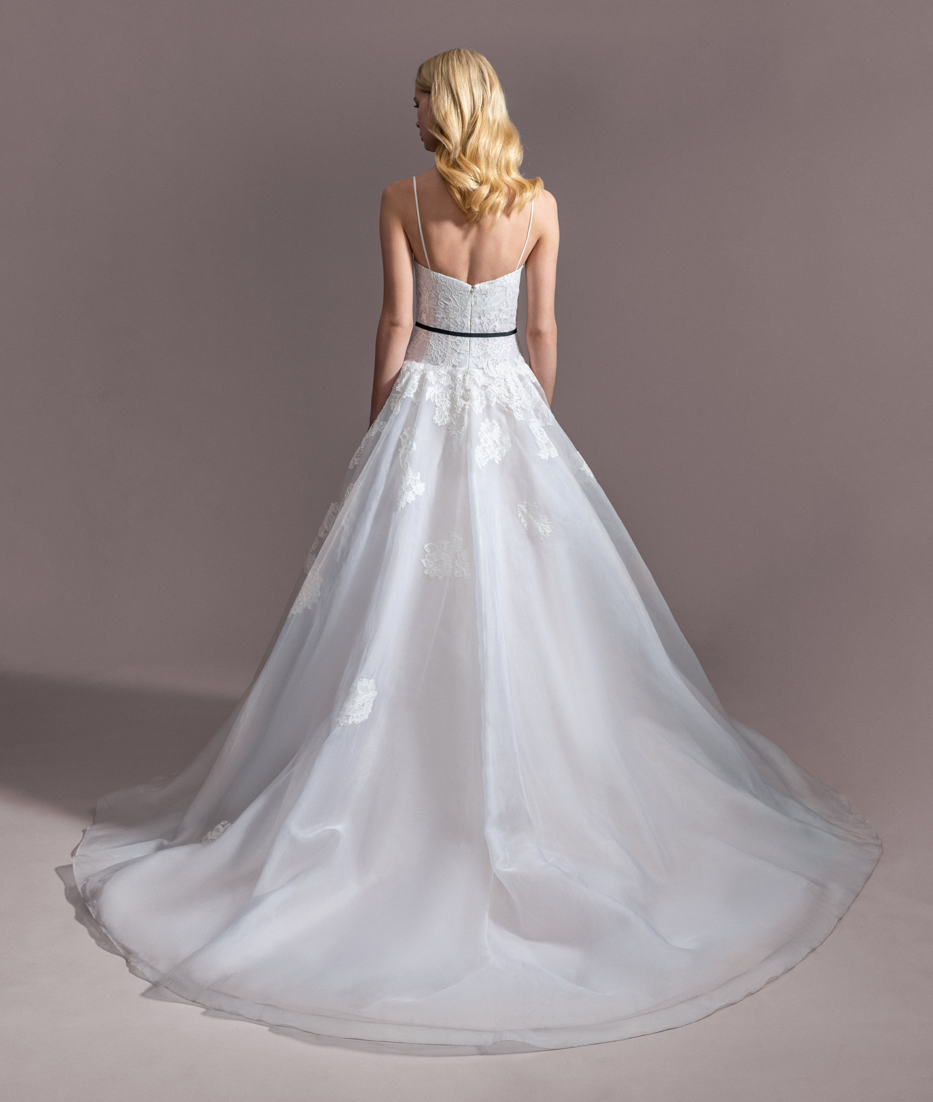 Spaghetti Strap Sweetheart Ballgown Wedding Dress With