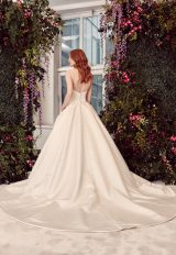 Strapless Ball Gown Wedding Dress With Buttons Down The Back by Alyne by Rita Vinieris - Image 2