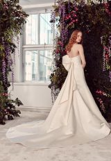 Strapless V-Neck A-Line Wedding Dress With Satin Bow by Alyne by Rita Vinieris - Image 2
