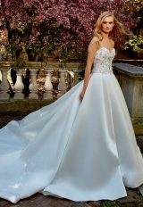 Strapless Sweetheart A-Line Wedding Dress With Beaded Bodice by Eve of Milady - Image 1
