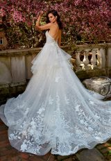 Strapless Sweetheart A-Line Wedding Dress With Ruffle Skirt by Eve of Milady - Image 2
