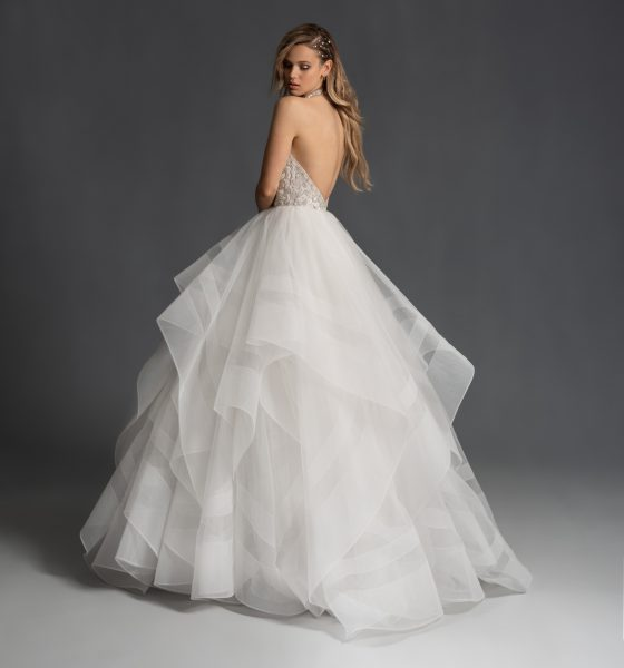 Halter Neckline Ballgown Wedding Dress With Beaded Bodice And Straps by Hayley Paige - Image 2