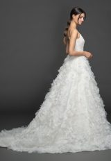 Spaghetti Strap Sweetheart A-line Wedding Dress Wth Gardenia Skirt by Lazaro - Image 2