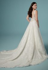 Sleeveless V-Neck A-Line Lace Wedding Dress by Maggie Sottero - Image 2