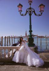 V-Neck Sleeveless Mermaid Wedding Dress With Detachable Skirt by Maison Signore - Image 2