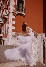 V-Neck Sleeveless Mermaid Wedding Dress With Detachable Skirt by Maison Signore - Image 1