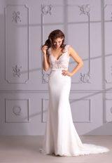 V-Neck Sleeveless Mermaid Wedding Dress With Lace Bodice by Maison Signore - Image 1