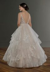 Sleeveless V-Neck Ballgown Wedding Dress With Layered Skirt by Martina Liana - Image 2