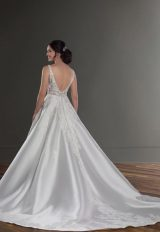 V-Neck Sleeveless Ballgown Wedding Dress With Beaded Lace Bodice by Martina Liana - Image 2