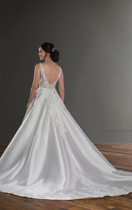 V-Neck Sleeveless Ballgown Wedding Dress With Beaded Lace Bodice by Martina Liana - Image 2