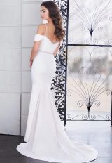 Spaghetti Strap Sweetheart Fit And Flare Wedding Dress With Beaded Belt by Paloma Blanca - Image 2
