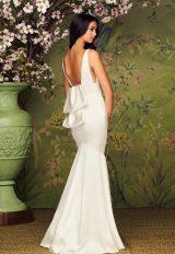 V-Neck Sleeveless Fit And Flare Wedding Dress by Paloma Blanca - Image 2