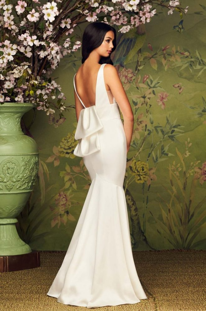 V-Neck Sleeveless Fit And Flare Wedding Dress by Paloma Blanca - Image 2