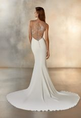 Sleeveless High Neck Mermaid Wedding Dress With Beading At Neckline by Pronovias - Image 2