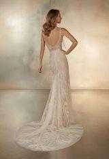 Sleeveless V-Neck Mermaid Wedding Dress With Beaded Fringe Detail by Pronovias - Image 2