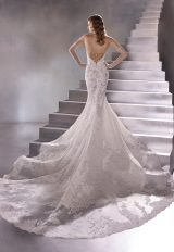 Strapless Sweetheart Mermaid Wedding Dress With Scalloped Train by Pronovias - Image 2