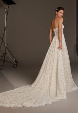 Sweetheart Strapless Mermaid Dress With Semi-Sheer Corset by Pronovias - Image 2