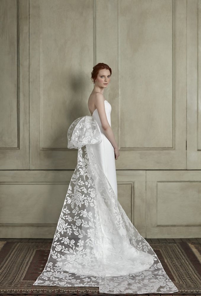 Strapless Sweetheart A-Line Wedding Dress With Back Bow by Sareh Nouri - Image 2