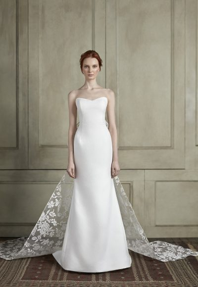 Strapless Sweetheart A-Line Wedding Dress With Back Bow by Sareh Nouri