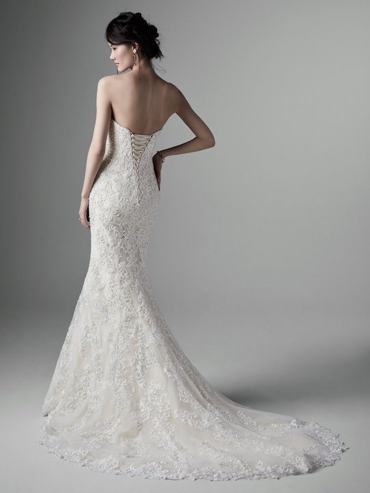 Strapless Crystal Encrusted Sweetheart Fit And Flare Wedding Dress by Sottero and Midgley - Image 2