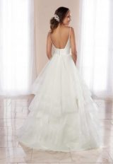 V-Neck Spaghetti Strap A-line Wedding Dress With Tiered Tulle Skirt by Stella York - Image 2