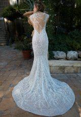 Cap Sleeve Lace Mermaid Wedding Dress by Tony Ward - Image 2