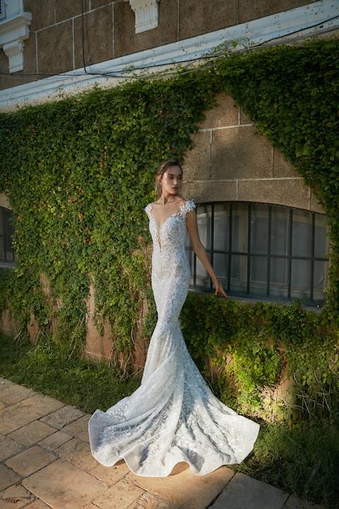 Cap Sleeve Lace Mermaid Wedding Dress Kleinfeld Bridal