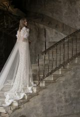 High Neck Sleeveles Lace Sheath Wedding Dress by Tony Ward - Image 2