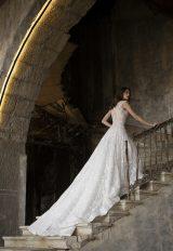 High Neck Sleeveless A-Line Wedding Dress With Illusion Beading by Tony Ward - Image 2