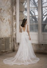 V-Neck Sleeveless A-Line Wedding Dress With Floral Appliques by Tony Ward - Image 2