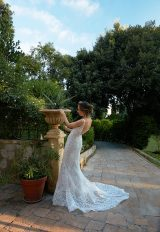 V-Neck Sleeveless Mermaid Lace Wedding Dress by Tony Ward - Image 2