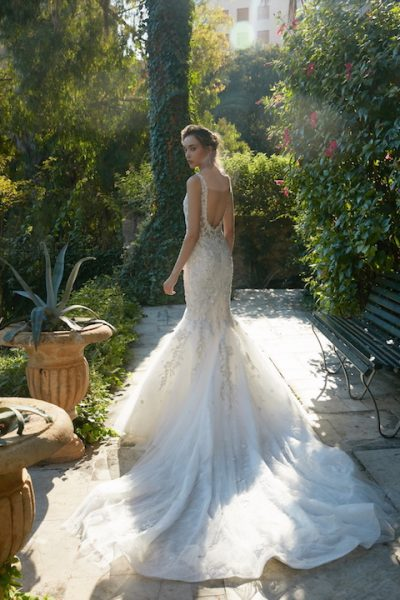 V-Neck Sleeveless Mermaid Wedding Dress With Floral Appliques by Tony Ward - Image 2