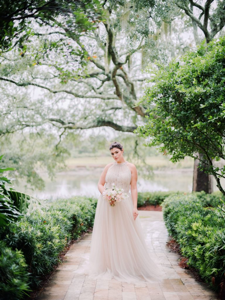7 Wedding Dress Details You Won't Regret in 20 Years | Kleinfeld Bridal: We took our newest wedding dresses to Sea Island, Georgia for an editorial photoshoot featuring lace wedding dresses, romantic veils and plenty of trending bridal inspiration. The venue features beaches, gardens, flowers and more!