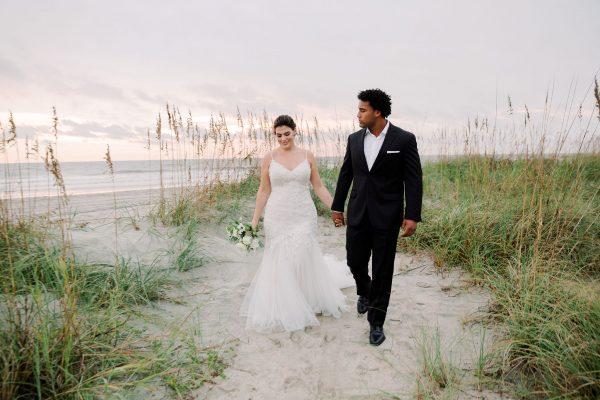 V-Neck Spaghetti Strap Lace Mermaid Wedding Dress by Danielle Caprese - Image 1