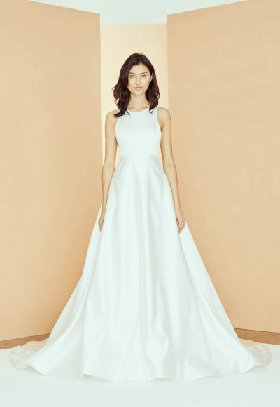 Sleeveless Scoop Neck A-line Wedding Dress With Pockets by Nouvelle Amsale