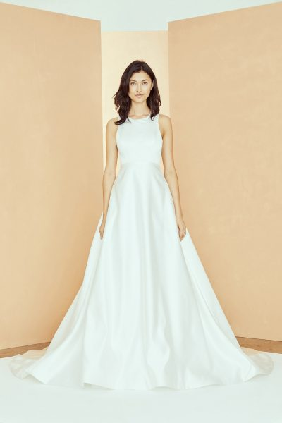 Sleeveless Scoop Neck A-line Wedding Dress With Pockets by Nouvelle Amsale - Image 1
