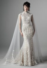 Strapless Sweetheart Neckline Beaded Lace Fit And Flare Wedding Dress by Maggie Sottero - Image 1